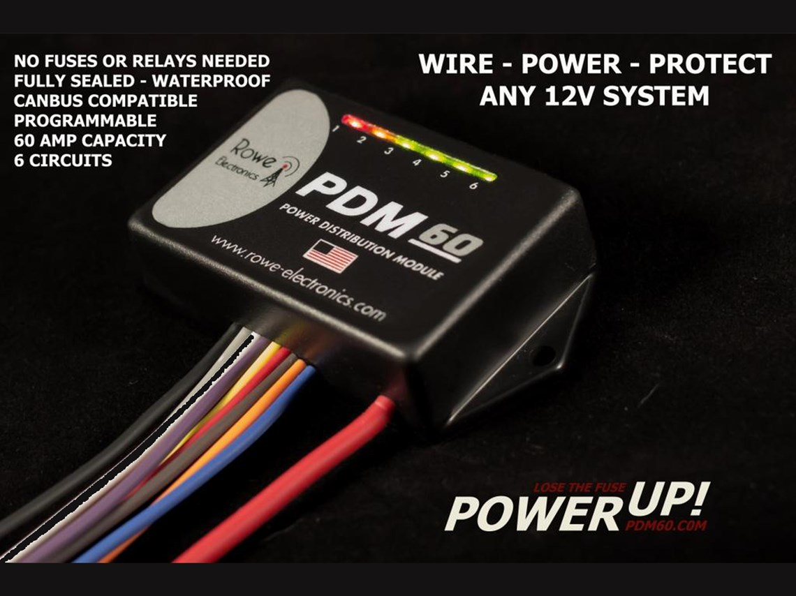 Pdm60 Power Distribution Module With Programming Cable Fuse Condition Monitor Led Indicator
