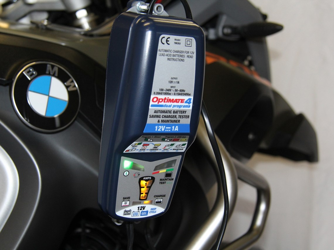 Optimate 4 4 BMW Can Bus Goldline DUAL Charger with FREE hook