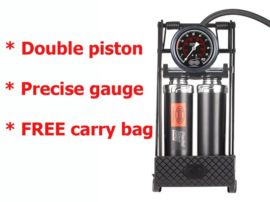 Heyner Double Piston Professional Footpump (with carry bag)