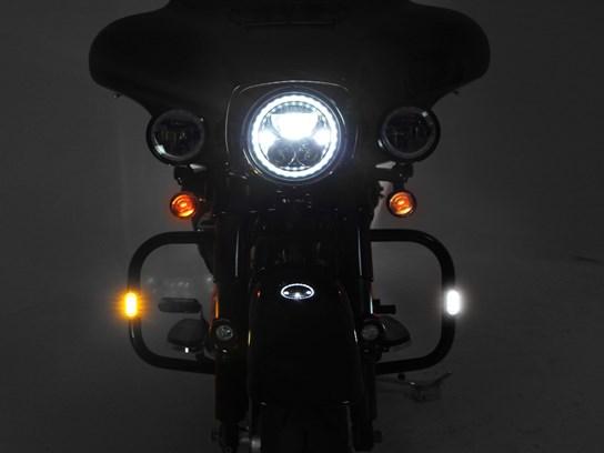 Denali T3 LED pair of pods front (crash bar mount) - white/amber~