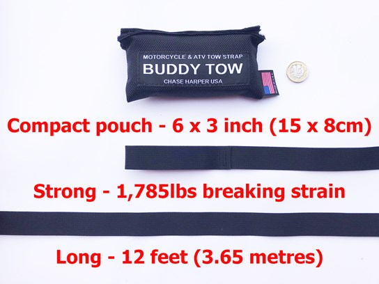 Buddy Tow motorcycle tow rope