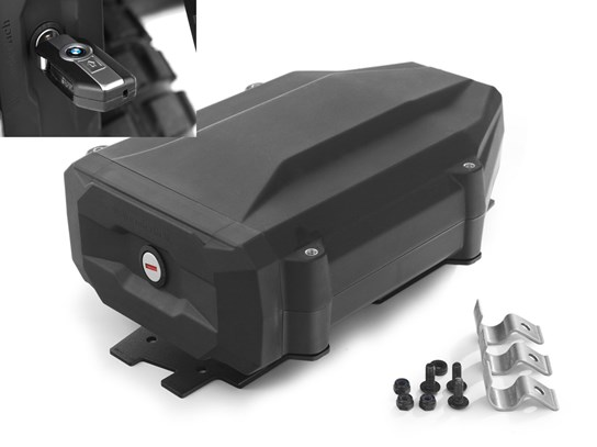 Wunderlich black tool box with code-able lock (left side fitment) R1200GS LC/Adventure, R1250GS/Adventure