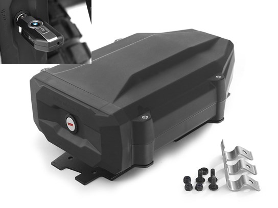 Wunderlich black tool box with code-able lock (right side fitment) for R1200Adventure (2004 to 2013)