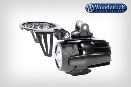 Wunderlich foldable spotlight grills (black) - LED BMW spotlights