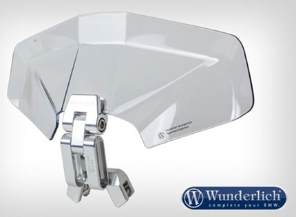 Wunderlich Ergo screen extension 3D - clear  R1200GS/Adv LC, R1250GS/R , F700GS/800 Adventure and more