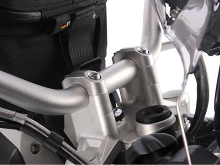 Wunderlich silver risers 25mm up only - R1200GS LC, R1200 Adventure LC, R1250GS/Adventure,  S1000XR to 2019