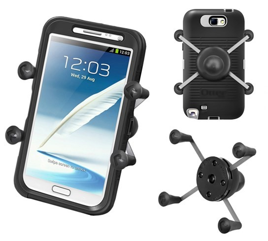 X-Grip® IV Universal Large Phone/Phablet & Sat Nav Holder with 1""