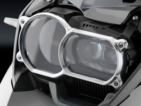 Rizoma headlight cover (silver)  R1200GS and Adventure LC 2013 to 2018, R1250GS/Adventure