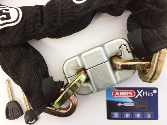 Abus Pretzel Lock and chain 14mm x 1.5 meters