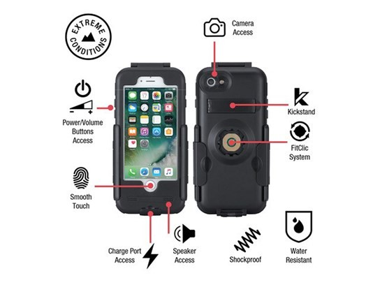 "Bike Console waterproof case for iPhone 7 PLUS with Ram 1"" ball"