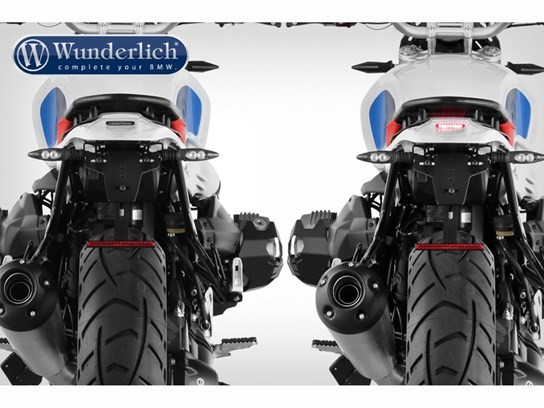 Wunderlich Enduro rear conversion with rear light - unpainted