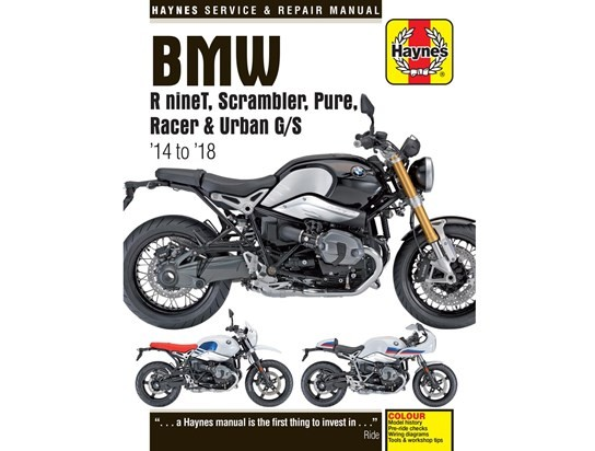 Haynes Manual R NINE T Scrambler Pure Racer, Urban GS