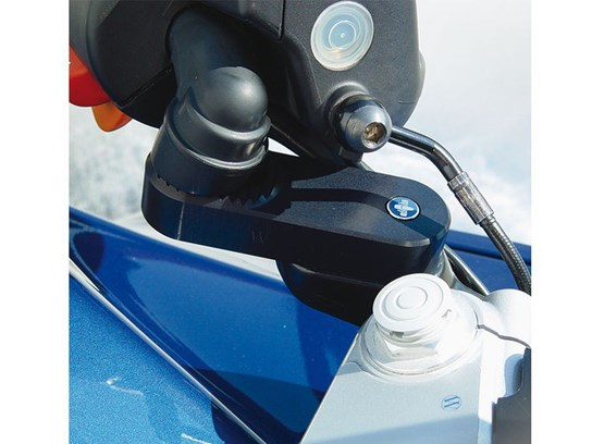 Wunderlich handlebar riser VarioErgo with integral ABS system  black R1150RS