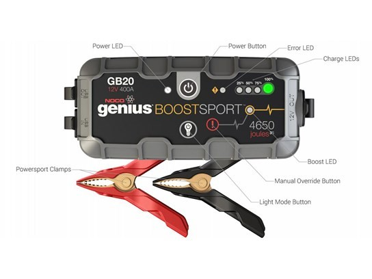 NOCO Genius Boost Plus GB20 400 Amp 12V Ultra Safe Lithium Jump Starter