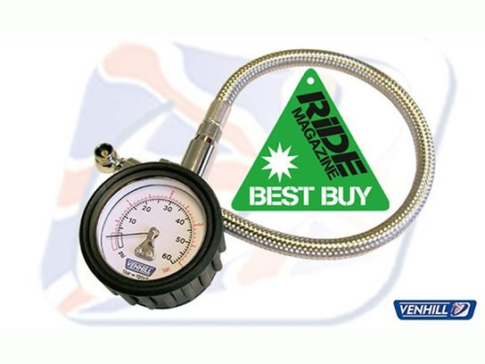 Venhill tyre pressure gauge 0 to 60 psi - Ride Best Buy