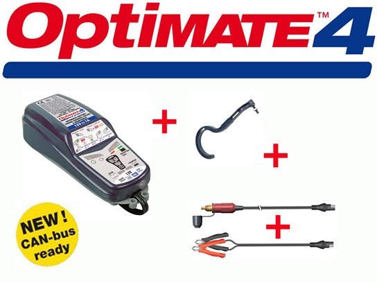 Optimate 4.4  BMW Can Bus Goldline DUAL Charger with FREE hook