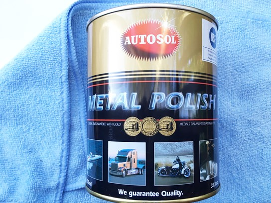 Autosol metal polish tin and Microfibre Cloth