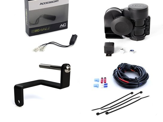 Denali Complete Sound Bomb (120dB) Horn Kit R1200GS LC 2013 to 2018/Adventure LC 2014 to 2018, R1250GS/1250 Adventure