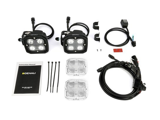 Denali D4 LED Light Kit (pair of lamps, wiring and switch included)