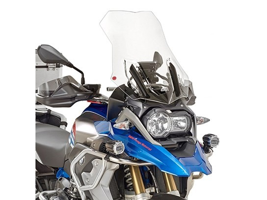 GiVi Highflow screen (with one side screen brace) R1200GS LC (2016 on), R1200 Adventure LC (2016 on), R1250GS clear