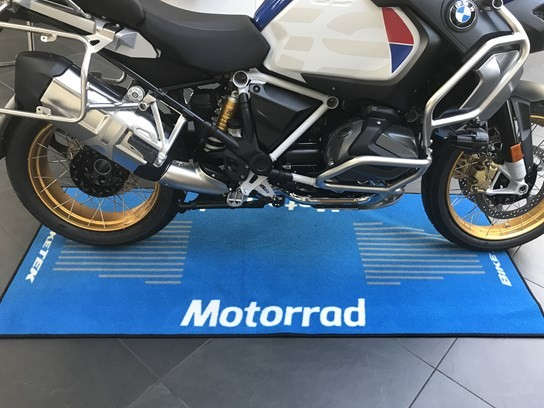 Motorrad motorcycle mat blue (190cm x 80cm)