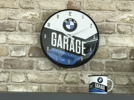 BMW Wall Clock Garage Design (31cm diameter)