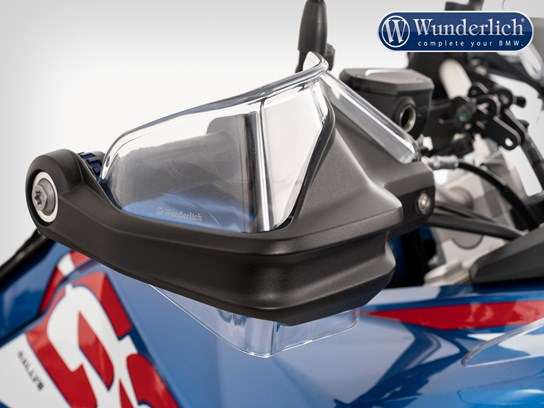 Wunderlich Hand guard extension clear R1200GS LC 2013 on, 2017, R1250GS/Adventure on and MORE models