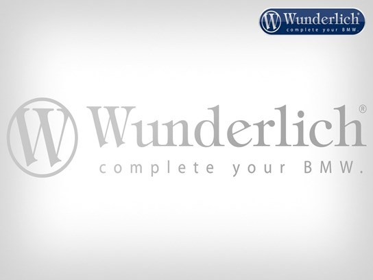 Wunderlich cut out sticker150mm long silver