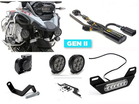 Denali Complete Gen II CanSmart Kit (D7 lighting and horn) R1250 Adventure (2019 on)