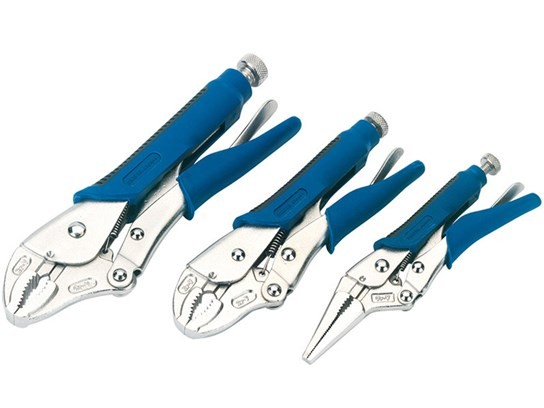 Draper soft grip self-grip pliers set (3 Piece)