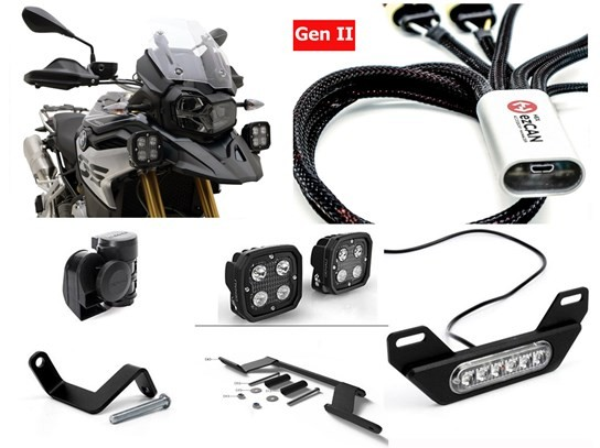 HEX Complete Gen II ezCAN Kit (lighting and horn) F750GS/850GS (not F850 Adventure)