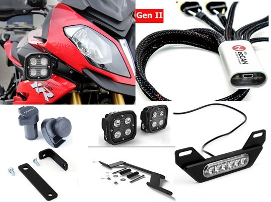 HEX Complete Gen II ezCAN Kit (lighting and horn) S1000XR