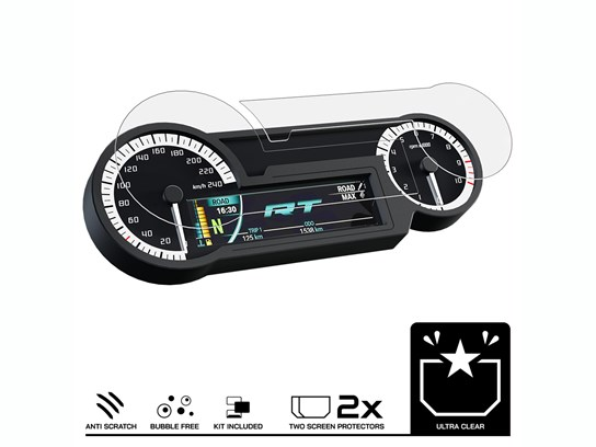Speedo Angels R1200RT LC, R1250RT Dashboard Screen Protector - Ultra-clear x 2