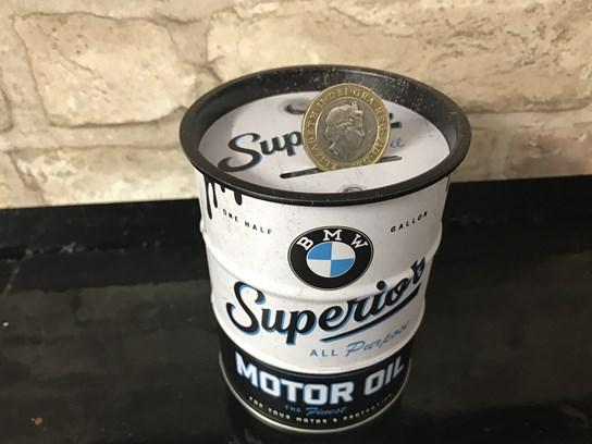 BMW money box oil barrel